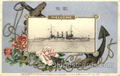 shi003329 - American Fleet, Ship Ships Postcard Postcards with commemoration postal mark on back