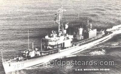shi003337 - USS Brownson Military Ship, Ships, Postcard Postcards