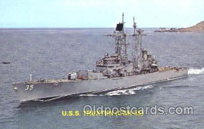 shi003339 - USS Truxtun Military Ship, Ships, Postcard Postcards