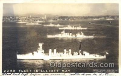 shi003343 - Fleet in Elliot Bay Military Ship, Ships, Postcard Postcards