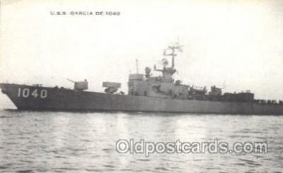 shi003359 - U.S.S. Garcia Military Ship, Ships, Postcard Postcards