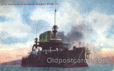 shi003364 - U.S. Battleship Nebraska Military Ship, Ships, Postcard Postcards