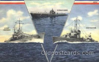 shi003380 - Light cruiser destroyer Military Ship Ships Postcard Postcards