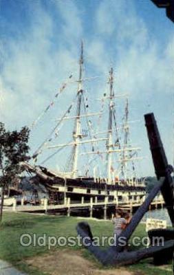 shi003389 - Whaleship, Mystic Seaport, Mystic, Connecticut, USA Navy, Military Ship, Ships Postcard Postcards