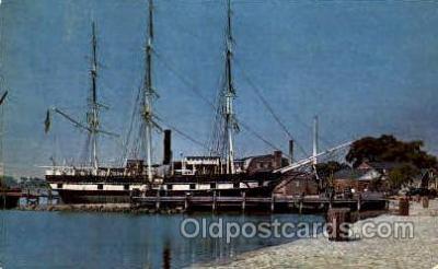 shi003418 - Whaleship, Charles W. Morgan Navy, Military Ship, Ships Postcard Postcards