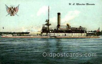 shi003427 - U.S. Monitor Nevada Navy, Military Ship, Ships Postcard Postcards