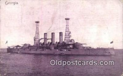 shi003435 - USS Georgia Military Battleship Postcard Post Card Old Vintage Anitque