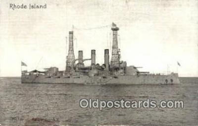 shi003437 - USS Rhode Island Military Battleship Postcard Post Card Old Vintage Anitque