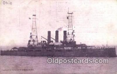 shi003438 - USS Ohio Military Battleship Postcard Post Card Old Vintage Anitque