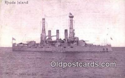 shi003439 - USS Rhode Island Military Battleship Postcard Post Card Old Vintage Anitque