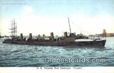 shi003443 - US Torpedo Boat Destroyer Military Battleship Postcard Post Card Old Vintage Anitque