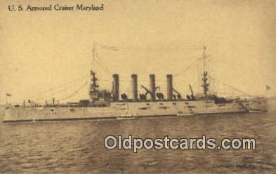 shi003456 - US Armored Cruiser, Maryland Military Battleship Postcard Post Card Old Vintage Anitque