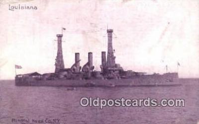 shi003459 - USS Louisiana Battleship Military Battleship Postcard Post Card Old Vintage Anitque
