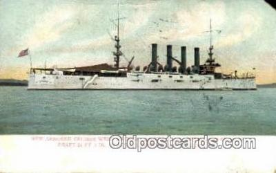shi003489 - New Armored Cruiser, West Virginia Military Battleship Postcard Post Card Old Vintage Anitque