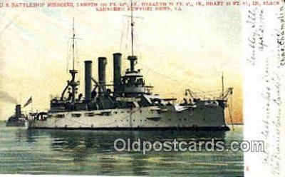 shi003510 - US Battleship Missouri Military Battleship Postcard Post Card Old Vintage Anitque