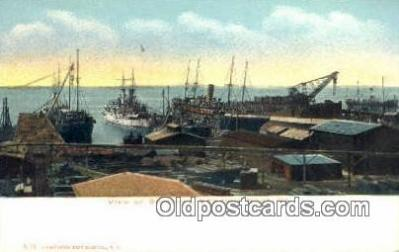 shi003521 - Shipyard, Newport News, VA Military Battleship Postcard Post Card Old Vintage Anitque