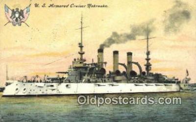 shi003530 - US Armored Cruiser Nebraska Military Battleship Postcard Post Card Old Vintage Anitque