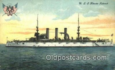shi003531 - USS Rhode Island Military Battleship Postcard Post Card Old Vintage Anitque