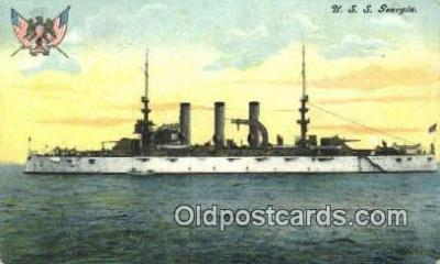 shi003532 - USS Georgia Military Battleship Postcard Post Card Old Vintage Anitque