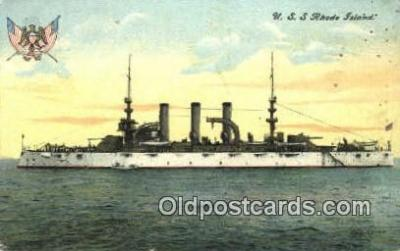 shi003533 - USS Rhode Island Military Battleship Postcard Post Card Old Vintage Anitque