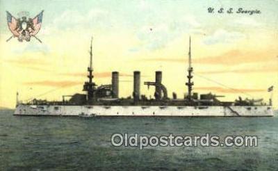 shi003535 - USS Georgia Military Battleship Postcard Post Card Old Vintage Anitque