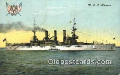 shi003536 - USS Kansas Military Battleship Postcard Post Card Old Vintage Anitque