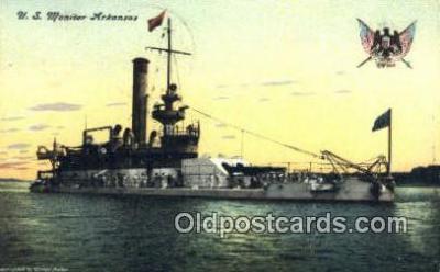 shi003541 - US Monitor Arkansas Military Battleship Postcard Post Card Old Vintage Anitque