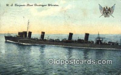 shi003542 - US Torpedo Boat Destroyer Worden Military Battleship Postcard Post Card Old Vintage Anitque