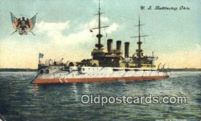 shi003547 - US Battleship Ohio Military Battleship Postcard Post Card Old Vintage Anitque