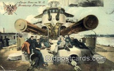 shi003559 - US Battleship Kearsarge Military Battleship Postcard Post Card Old Vintage Anitque