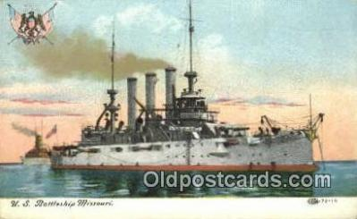 shi003565 - US Battleship Missouri Military Battleship Postcard Post Card Old Vintage Anitque