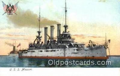 shi003573 - USS Missouri Military Battleship Postcard Post Card Old Vintage Anitque
