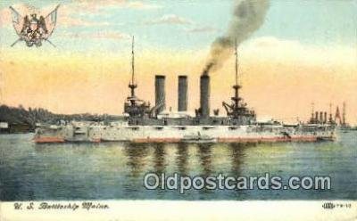 shi003575 - US Battleship Maine Military Battleship Postcard Post Card Old Vintage Anitque