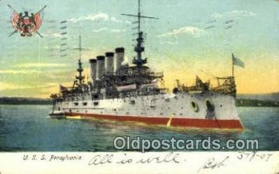 shi003583 - USS Pennsylvania Military Battleship Postcard Post Card Old Vintage Anitque