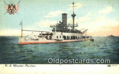shi003588 - US Monitor Puritan Military Battleship Postcard Post Card Old Vintage Anitque