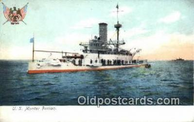shi003592 - US Monitor Puritan Military Battleship Postcard Post Card Old Vintage Anitque