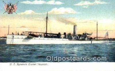 shi003601 - US Dynamite Cruiser Vesuvius Military Battleship Postcard Post Card Old Vintage Anitque