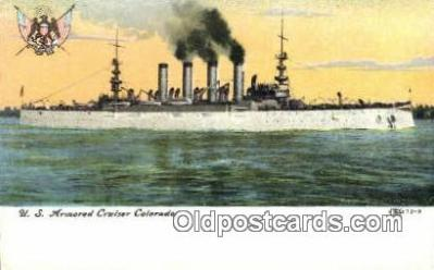 shi003603 - US Armored Cruiser Colorado Military Battleship Postcard Post Card Old Vintage Anitque