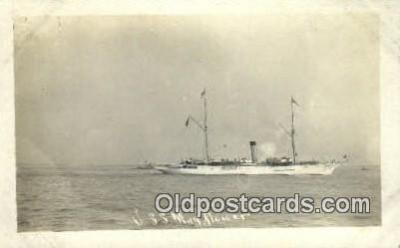 shi003615 - USS Mayflower Military Battleship Postcard Post Card Old Vintage Anitque