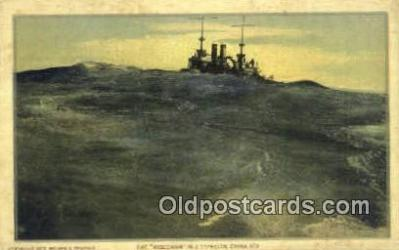 shi003616 - The Wisconsin Military Battleship Postcard Post Card Old Vintage Anitque