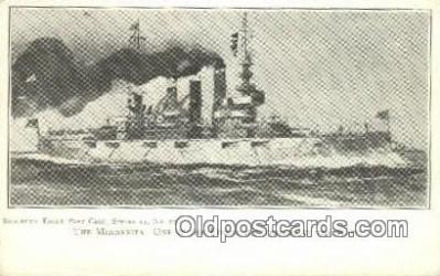 shi003623 - The Minnesota, Navy Military Battleship Postcard Post Card Old Vintage Anitque