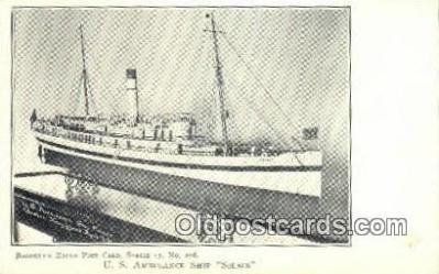 shi003624 - US Ambulance Ship Solace Military Battleship Postcard Post Card Old Vintage Anitque