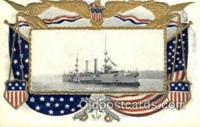 shi003649 - The New Orleans Military Battleship Postcard Post Card Old Vintage Anitque
