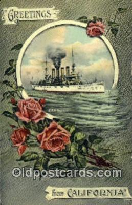 shi003657 - USS Tennessee Military Battleship Postcard Post Card Old Vintage Anitque