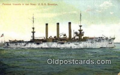 shi003671 - USS Brooklyn Military Battleship Postcard Post Card Old Vintage Anitque