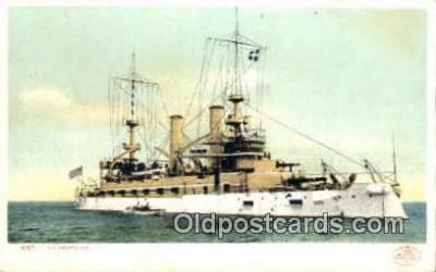 shi003685 - USS Kearsarge Military Battleship Postcard Post Card Old Vintage Anitque
