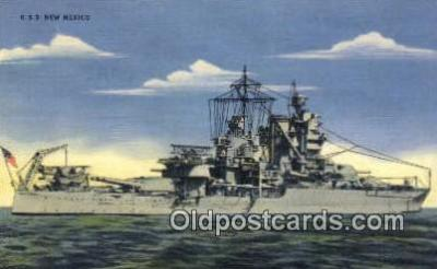shi003691 - USS New Mexico Military Battleship Postcard Post Card Old Vintage Anitque