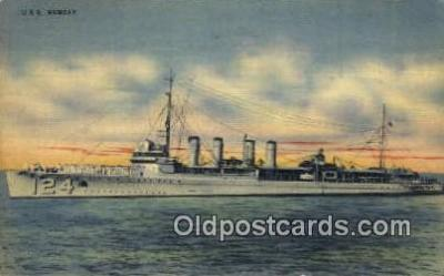 shi003694 - USS Ramsay Military Battleship Postcard Post Card Old Vintage Anitque