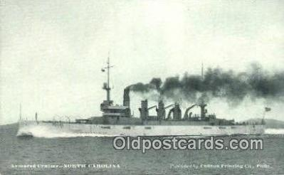 shi003696 - Armored Cruiser, North Carolina Military Battleship Postcard Post Card Old Vintage Anitque