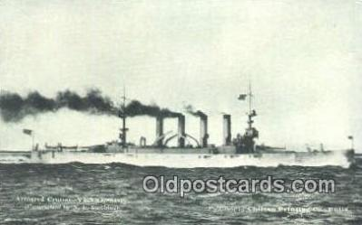 shi003698 - Armored Cruiser, Tennessee Military Battleship Postcard Post Card Old Vintage Anitque